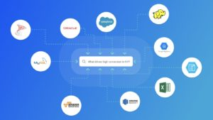 Search-Driven Analytics From Multiple Data Sources